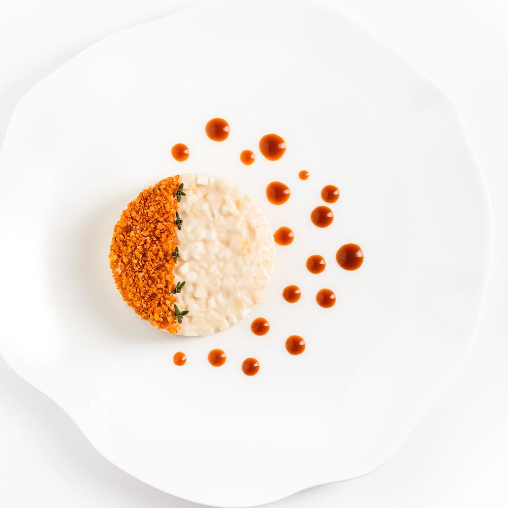 sedano rapa mantecato vegan chef Emanuele Giorgione libro Cucinare per Tutti Italian Gourmet foto Francesca Bettoni